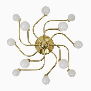 Vintage Brass Ceiling Lamp from Sölken Leuchten, 1970s