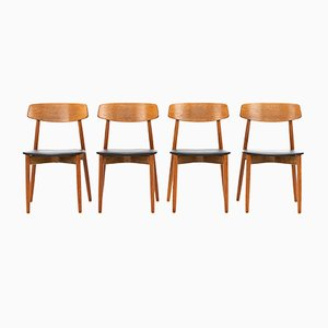 Dining Chairs by Harry Østergaard for Randers Møbelfabrik, 1960s, Set of 4