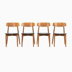 Sedie da pranzo di Harry Østergaard per Randers Møbelfabrik, anni '60, set di 4
