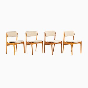 Teak Model 49 Dining Chairs by Erik Buch for Oddense Maskinsnedkeri / O.D. Møbler, 1960s, Set of 4