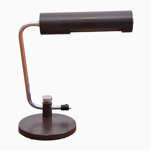 Brown Metal Adjustable Table Lamp, 1970s