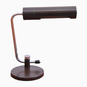 Verstellbare Tischlampe aus braunem Metall, 1970er
