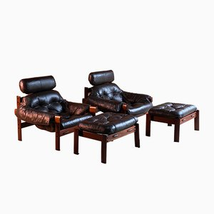 Mahogany Living Room Set by Percival Lafer, 1960s