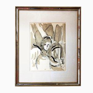 Litografia Marc Chagall di 31 Chapel Lane per Atelier Mourlot, Parigi, 1956