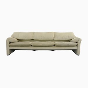 Italian 3-Seater Model Maralunga Sofa by Vico Magistretti for Cassina, 2000s