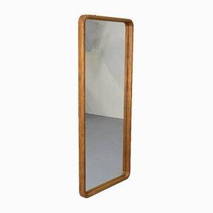 Miroir en Chêne avec Cadre en Bois, années 70