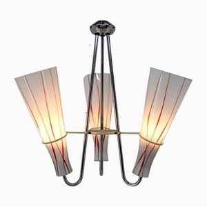 Lampada in metallo cromato, anni '60