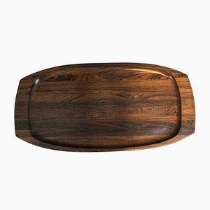 Plateau en Palissandre par Jean Gillon pour Wood Art, années 60