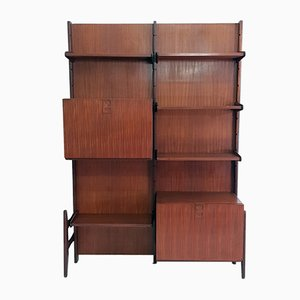 Teak Wall Shelving Unit by Fratelli Proserpio, 1960s