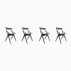 Dining Chairs by Arne Hovmand-Olsen for Mogens Kold, 1959, Set of 4