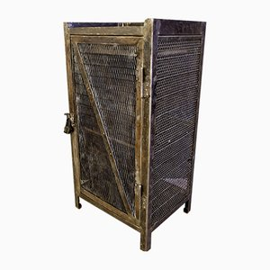 Metal Cabinet Locker with Drawer and Padlock, 1930s