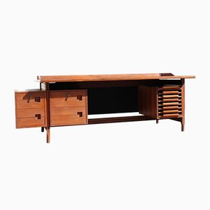 Teak Desk by Vittorio Dassi for Dassi, 1950s