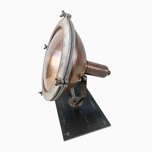 Stehlampe aus Kupfer & Messing von Holophane, 1940er