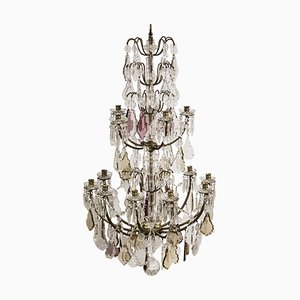 Large Antique French Prism Chandelier