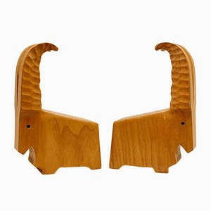 Capricorn Bookends from Rhönkunst, 1960s, Set of 2