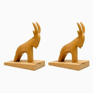 Capricorn Bookends from Rhönkunst, 1970s, Set of 2