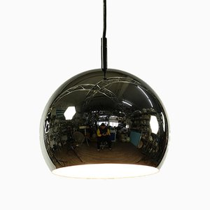Chrome Ball Ceiling Lamp, 1970s