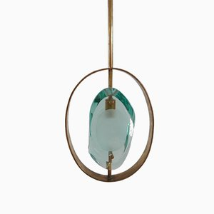 Lampe à Suspension 1933 par Max Ingrand pour Fontana Arte, années 60