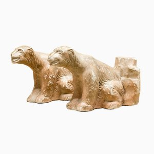 Mid-Century Polar Bear Bookends from GP. reg., Set of 2