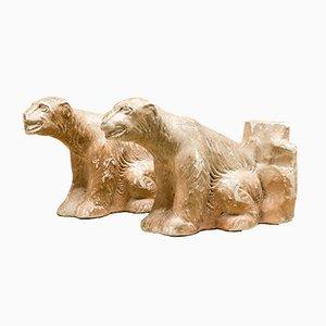 Mid-Century Polar Bear Bookends from GP. reg., Set of 2