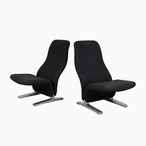 Lounge Chairs by Pierre Paulin for Artifort, 1970s, Set of 2
