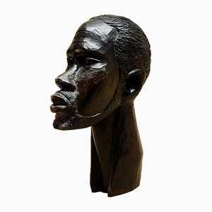 Carved Ebony Sculpture, 1970s