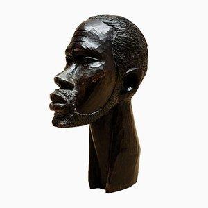 Escultura de ébano tallado, años 70