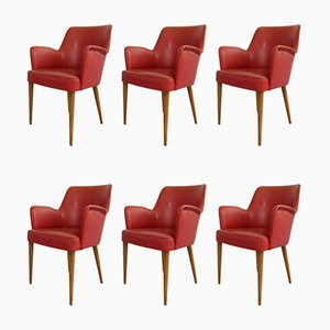 810 Esszimmerstühle von Figli di Amadeo Cassina für Cassina, 1950er, 6er Set