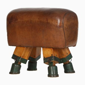 Vintage Czech Turnbock Gym Stool