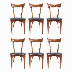 Chaises de Salle à Manger par Ico Parisi pour Ariberto Colombo, 54, Set de 6