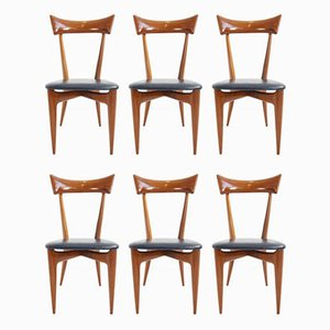 Dining Chairs by Ico Parisi for Ariberto Colombo, 1954, Set of 6