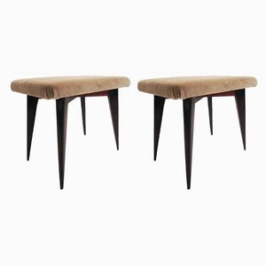 Stools by Osvaldo Borsani for Atelier Borsani Varedo, 1950s, Set of 2