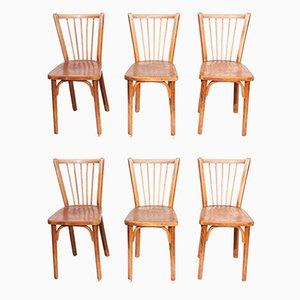Bistro Chairs, 1950s, Set of 6