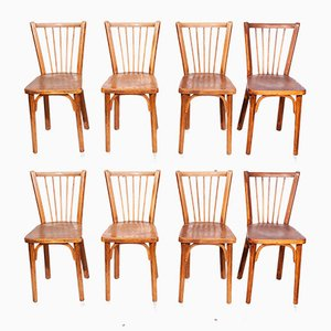 Bistro Chairs, 1950s, Set of 8