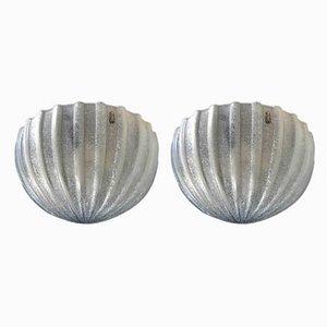 Lámparas de pared de Archimede Seguso para Vetri, años 80. Juego de 2
