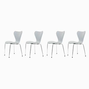 AJ3107 Dining Chairs by Arne Jacobsen for Fritz Hansen, 1980s, Set of 4