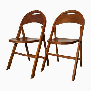 Vintage Model B751 Folding Chairs by Michael Thonet for Thonet, Set of 2