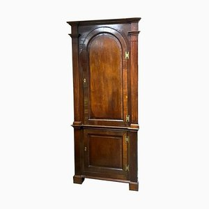 Large Antique Walnut Corner Sideboard, 1800s
