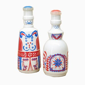 Vinegar & Oil Containers from VEB Gebrauchsporzellan Gräfenthal, 1970s, Set of 4