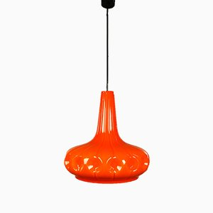 Mid-Century Glass Pendant Lamp from Peill & Putzler