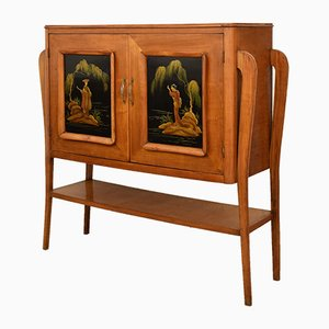 Cherry Chinoiserie Bar Cabinet, 1942