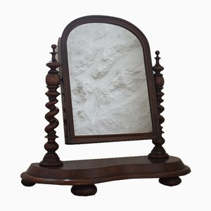 Antique Victorian Mahogany Toilet Mirror