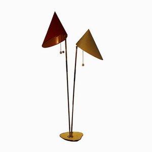 Lámpara de pie austriaca Mid-Century