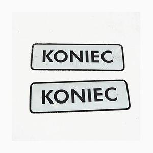 Polish Aluminum Koniec Sign, 1990s