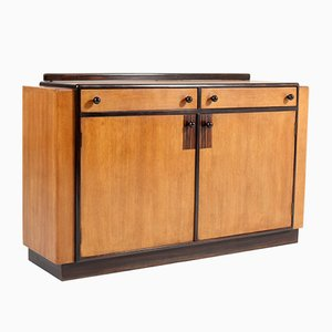 Art Deco Oak Credenza by P.E.L. Izeren for De Genneper Molen, 1920s