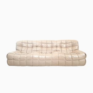Vintage Leather 3-Seat Sofa by Michel Ducaroy for Ligne Roset