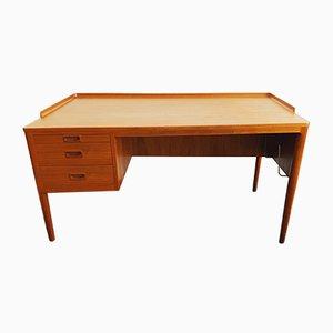 Danish Teak Desk with Mini Bar, 1960s