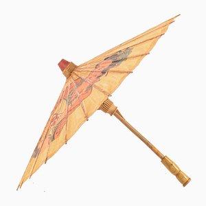 Vintage Japanese Parchment Umbrella, 1970s