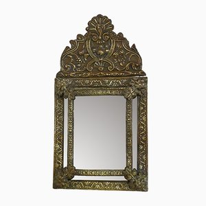 Antique Metal Mirror with Beads