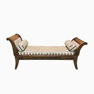 Sofá cama antiguo de caoba